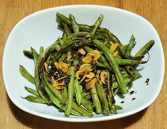 Blistered Green Beans with Garlic prepared by Michele