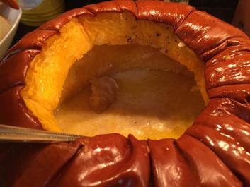 Baked Pumpkin Fondue prepared by Jackie
