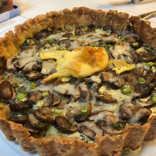 Mushroom Shallot Quiche prepared by Becky