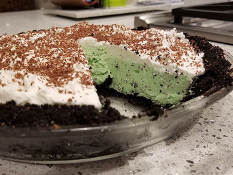 Grasshopper Pie from As Easy as Pie by Susan Purdy prepared by Gayla