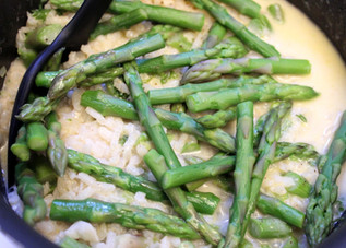 Cheesy Rice with Asparagus prepared by Sue