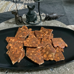 "Pumpkin Seed Brittle from Gourmet Today prepared by Jackie ""it's like crack"""
