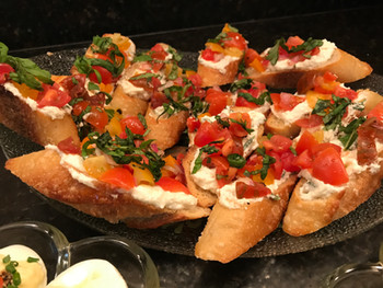 Tomato Crostini with Whipped Feta from Barefoot Contessa prepared by Susie
