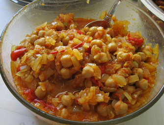 Khatte Chole (Sour Chickpeas) prepared by Michele
