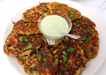 """Leek Fritters from """"Plenty"""" prepared by Christina"""