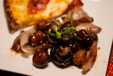 Mushrooms & chestnuts with za'atar from Simple prepared by Maria