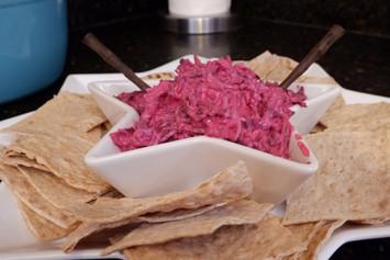 Borani-yeh Laboo (Yogurt Beet Dip) prepared by Susie