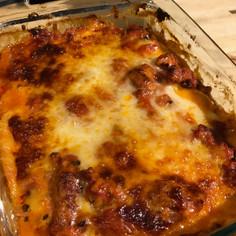 Noodle-less Butternut-Sausage Lasagna prepared by Sandy
