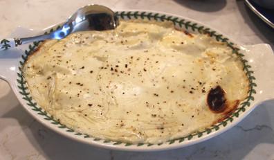 Gnocchi Mornay prepared by Jackie