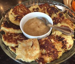 Gluten Free Crispy Yukon Gold Latkes from Tori Avey prepared by Sari