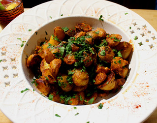 Kinda, Sorta Patatas Bravas prepared by Michele