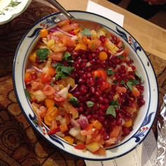 Tomato and Pomegranate Salad prepared by Susan B
