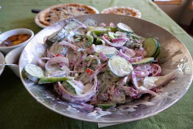Mediterranean Salad prepare by Linda