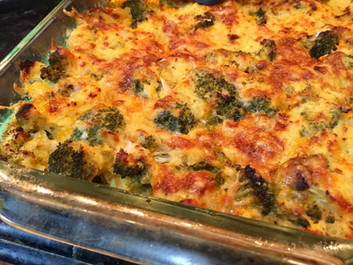 Broccoli Cheddar Spaghetti Squash Casserole  prepared by Wendy