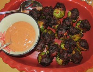 Lamb Stuffed Brussels Sprouts prepared by MaryLou