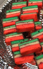 Rainbow Cookies baked by MaryLou