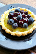 Blueberry Tartlets with Lime Curd from The Flavors of Bon Appetit, 2003 prepared by Michele