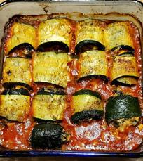 Zucchini Involtini with Swiss Chard and Ricotta prepared by Michele