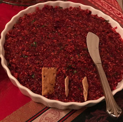 Cranberry Cream Cheese Dip prepared by MaryLou