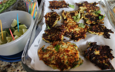 Courgette Fritters from Forever Summer prepared by Lisa