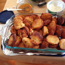 Ricotta Fritters with Orange and Honey prepared by Elda