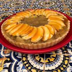 Apple Tart with Calvados from Piret's Cookbook prepared by Linea