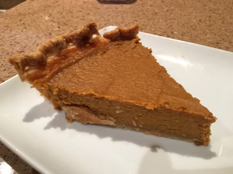 "Sour Cream Pumpkin Pie from Gourmet Today prepared by Shelley ""not worth the extra effort"""