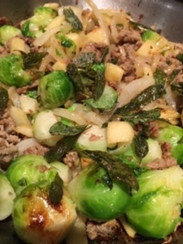 Best ever Brussels sprouts from Jamie's Easy Christmas Countdown prepared by Shelley