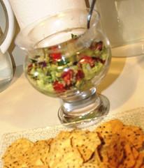 Greek Guacamole prepared by Glenda