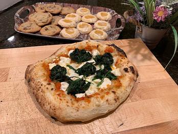 Simple Sourdough Pizza Crust prepared by Maria