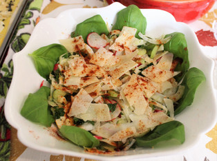 Fennel and Celery Salad with Lemon and Parmesan from NY Times City Kitchen column prepared by Susie