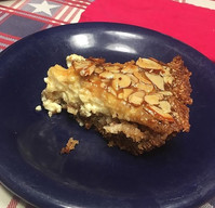 Bienenstich Pie (Bee Sting Pie) from summerofpie.com prepared by Sue