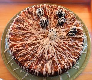 Vanilla Glazed Blackberry Peach Coffee Cake prepared by MaryLou