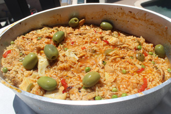 Arroz con Polla a La Chorrera (Drenched Chicken & Rice) from The Cuban Table prepared by Gayla
