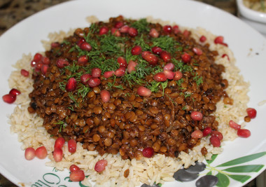 Lentils with Tamarind & Dates from nigella.com prepared by Wendy