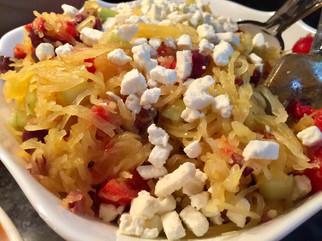Spaghetti Squash Greek Salad prepared by Susie