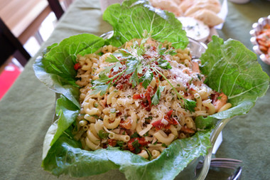 Pasta Salad with Smoked Salmon and Sun-Dried Tomatoes prepared by Sandy