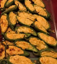 Jalapeño Poppers prepared by Sue