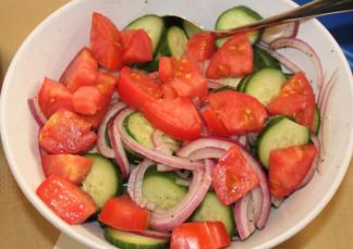 Everyday Cucumbers prepared by Julia
