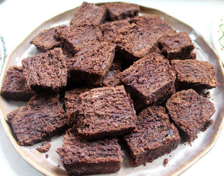 Dense Chocolate Loaf Cake from How to Be a Domestic Goddess prepared by Patty