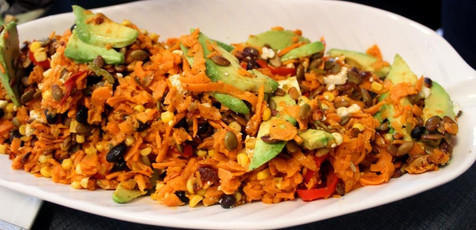 Chipotle Sweet Potato Noodles with Black Beans prepared by Sue