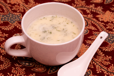 "Greek Egg & Lemon Soup from Gourmet Today prepared by Maria ""will be a go-to recipe"""