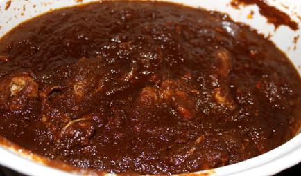 Pollo en Salsa de Ciruela Pasa (Chicken in Spicy Prune Sauce) prepared by MaryLou