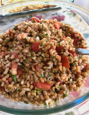 Farro Salad with Tomatoes & Herbs prepared by Kim