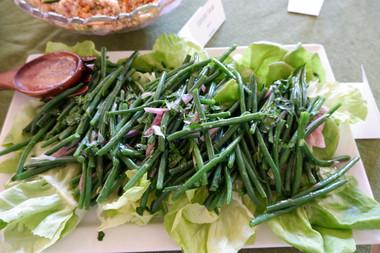 Jack Monaco's Green Bean Salad prepared by Julia
