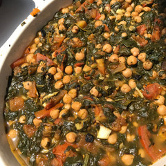 Andalusian Spinach with Chickpeas prepared by Patty