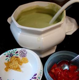 Sopa Fría de Aguacate de Uruapan (Cold Avocado Soup) prepared by Linda