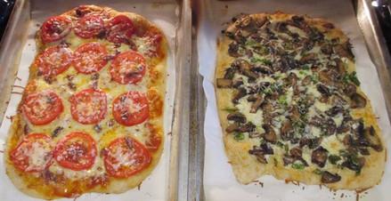No-Knead Pizza Crust prepared by Michele