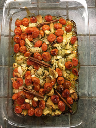 Baked rice with confit tomatoes & garlic from Simple prepared by Stacey