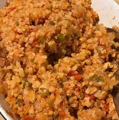 Mexican Cauliflower Rice prepared by Shelley
